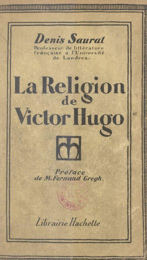 La religion de Victor Hugo