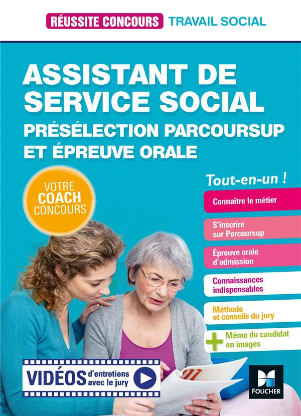 REUSSITE CONCOURS ASSISTANT DE SERVICE SOCIAL - ASS -PRESELECTION PARCOURSUP + EP ORALE  PREPARATION