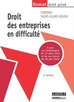 Vente Livre Numérique : Droit des entreprises en difficulté - 9e édition  - Corinne Saint-Alary-Houin