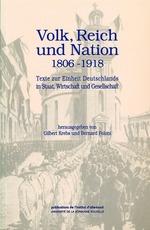 Vente EBooks : Volk, Reich und Nation 1806-1918  - Gilbert Krebs - Bernard Poloni
