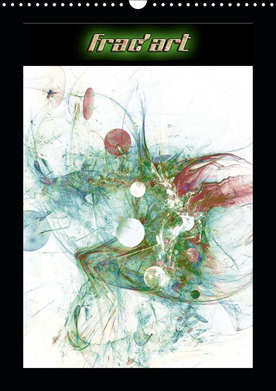 Frac'art (calendrier mural 2019 din a3 vertical) - images fractales numeriques (calendrier mensuel,