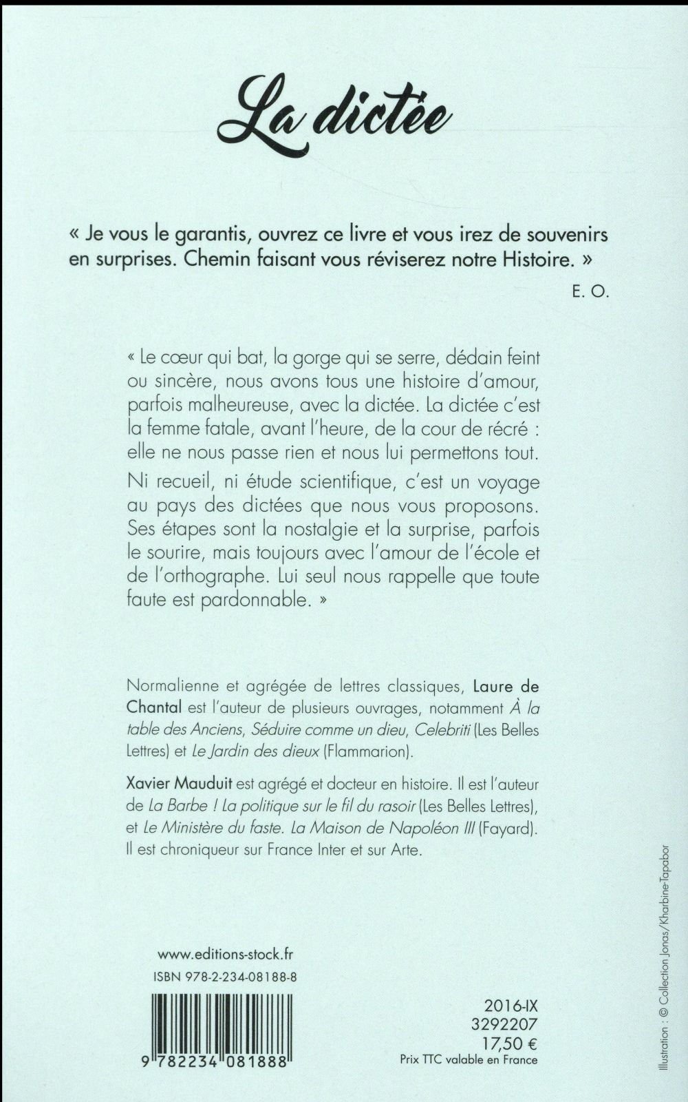 La dictée ; une histoire française