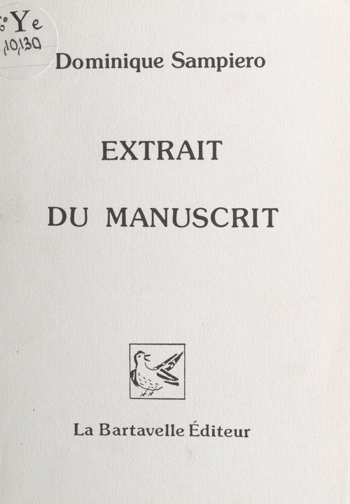 Extrait du manuscrit
