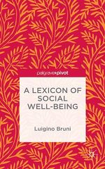 A Lexicon of Social Well-Being  - NA NA - Luigino Bruni