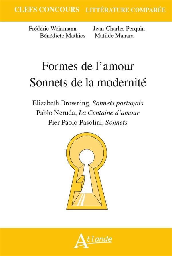 Formes de l'amour, sonnets de la modernité