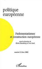 Parlementarismes et construction européenne