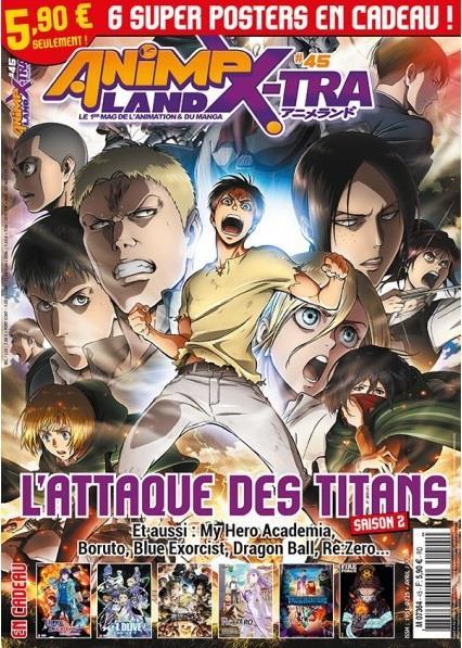 Animeland X-tra n.45 ; l'attaque des titans ; saison 2