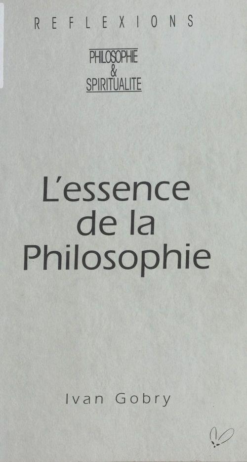 Essence de la philosophie