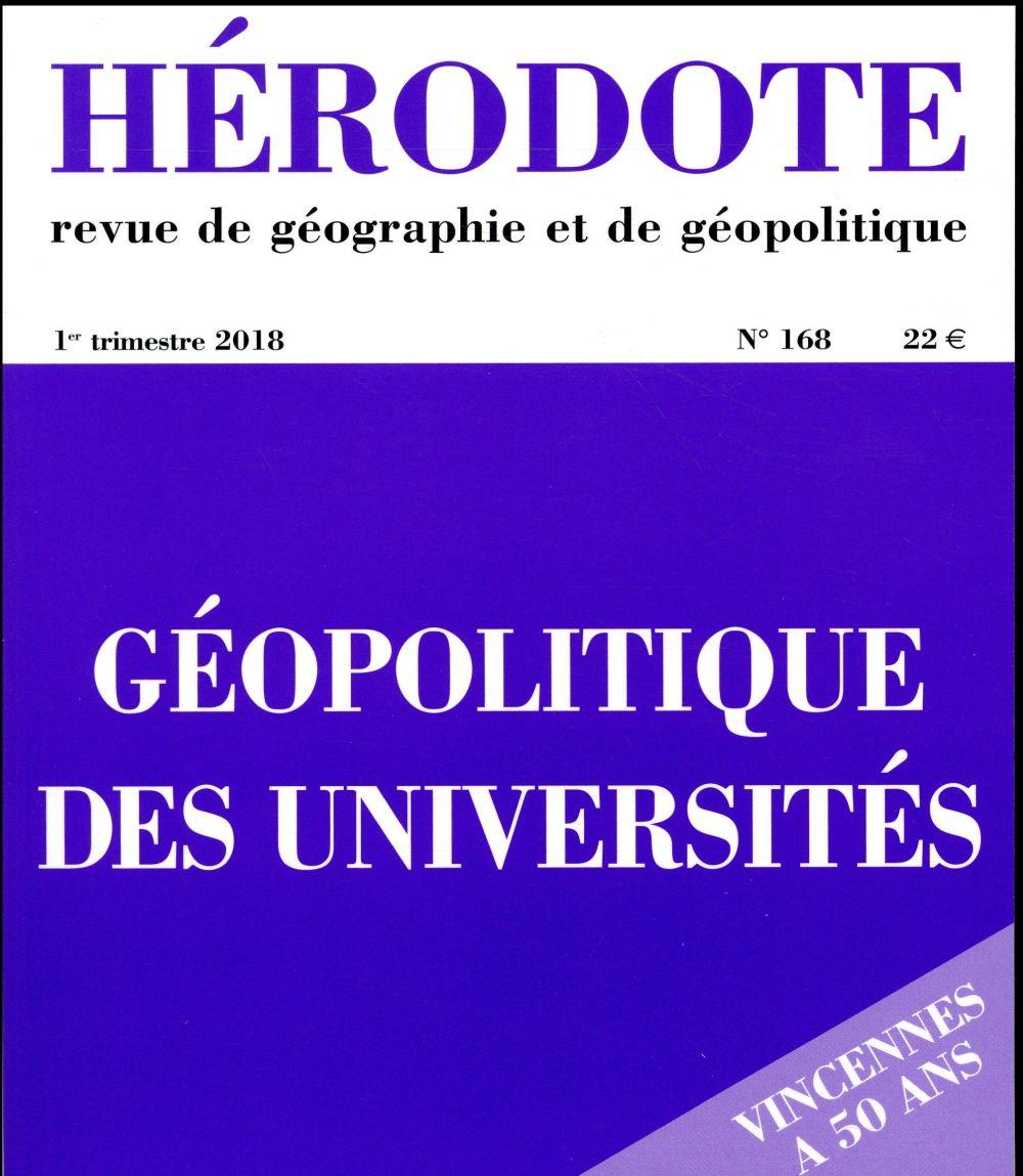 Revue herodote n.168 ; geopolitique des universites