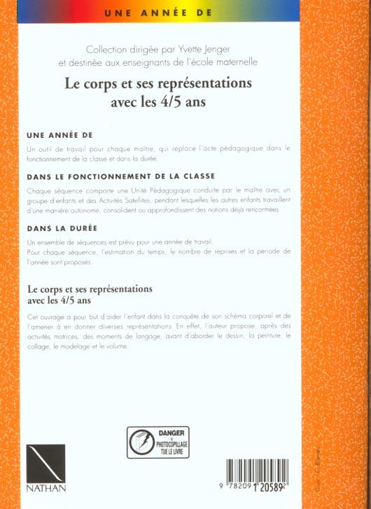 le corps et ses representations avec les 5/6 ans pedagogie coll. une annee de