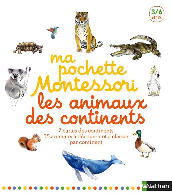 Ma Pochette Montessori ; Les Animaux Des Continents