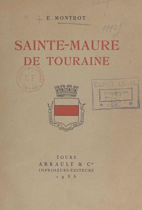 Sainte-Maure de Touraine  - E. Montrot