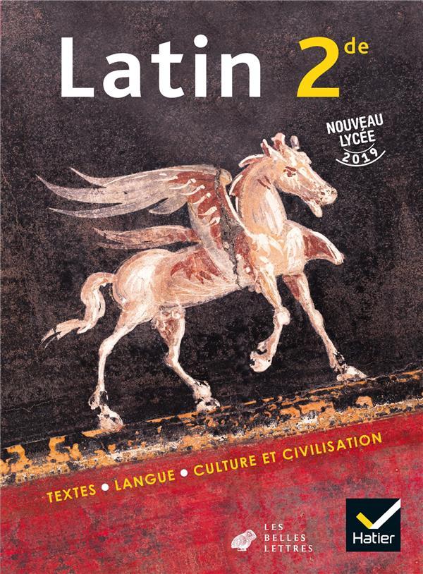 Latin ; 2de ; livre de l'élève (édition 2019)
