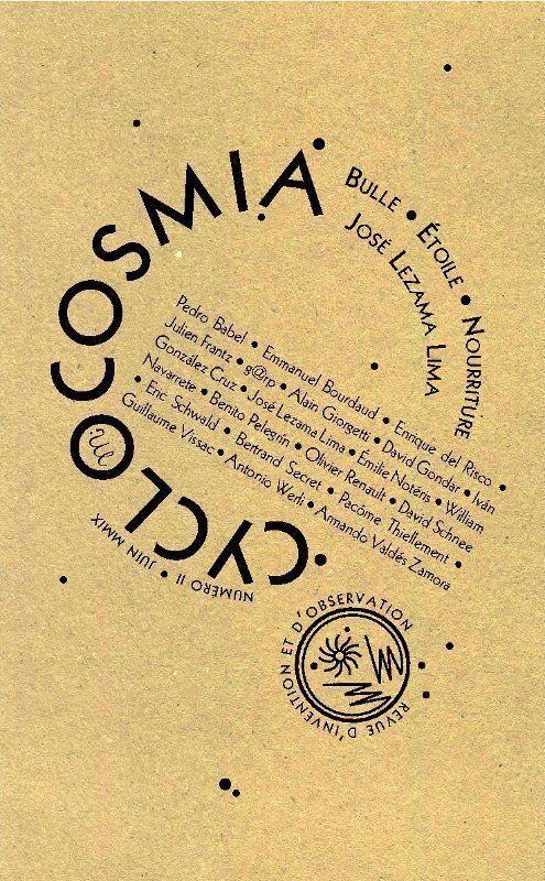 Revue cyclocosmia t.2; jose lezama lima