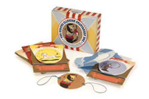 The circus illusion stationery box: 10 circus illusion cards with press out picture discs to spin /a