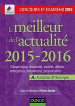 Vente Livre Numérique : Le meilleur de l'actualité 2015-2016  - Olivier Sarfati