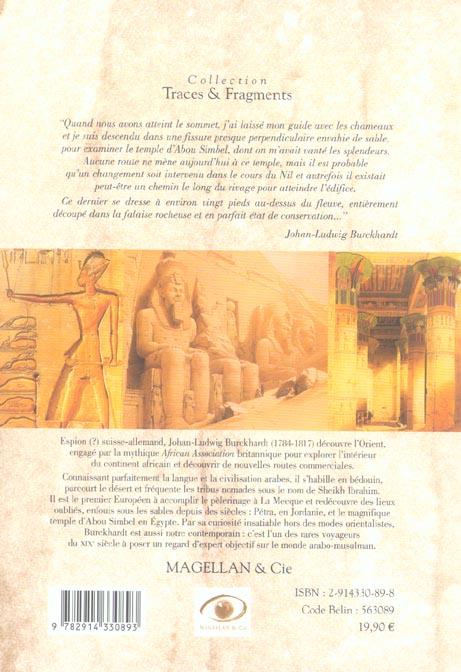 Burckhardt, au coeur de l'Egypte