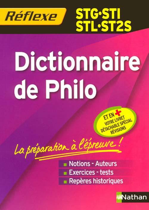 Memo Reflexe; Dictionnaire De Philo ; Stg/Sti/Stl/St2s