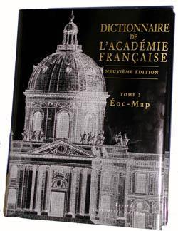 Dictionnaire de l'académie française t.1 ; Eoc-Map