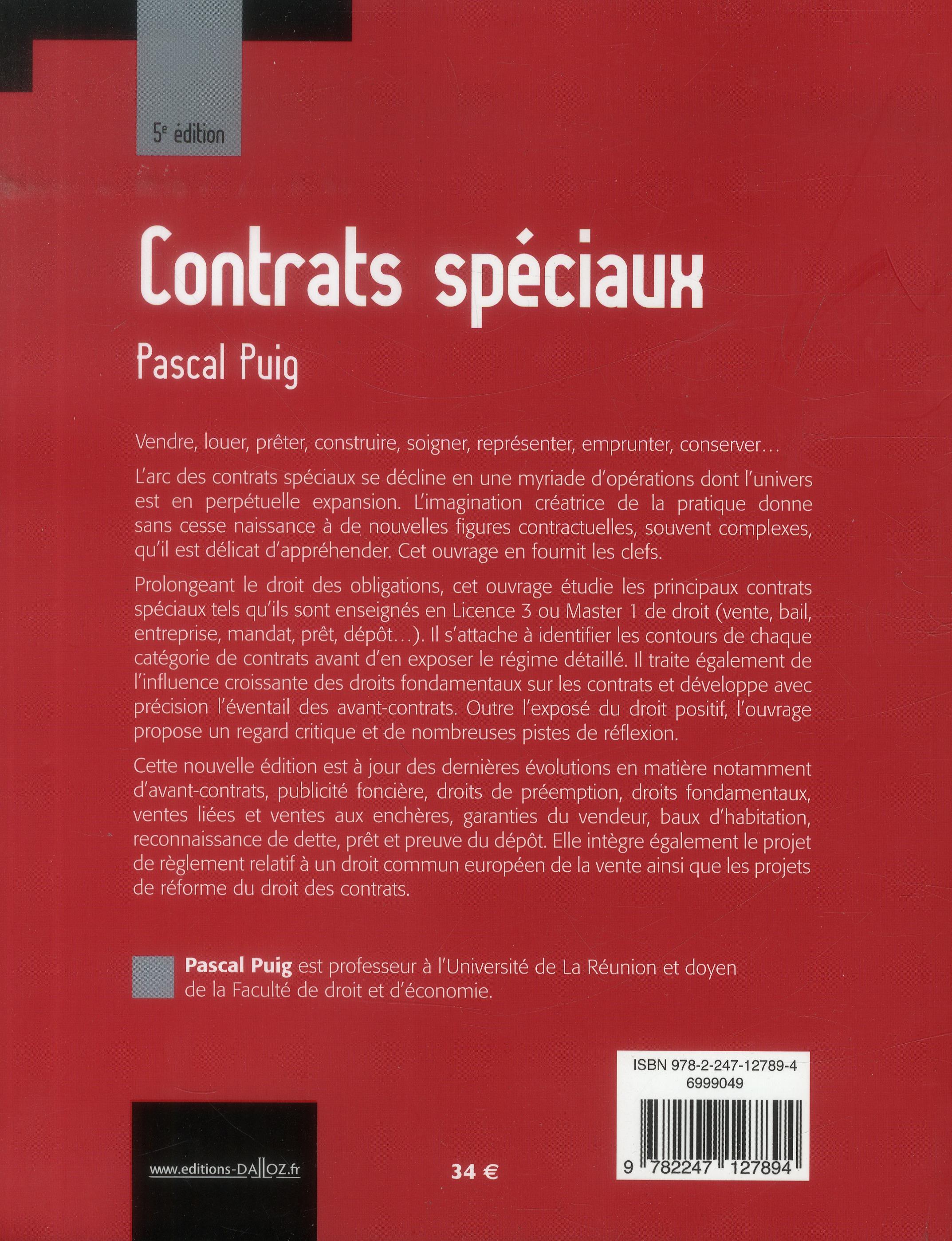 Contrats spéciaux (5e édition)
