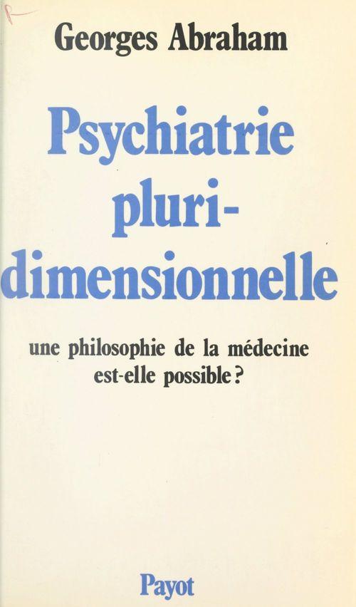 Psychiatrie pluridimensionnelle