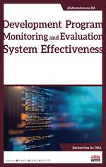 Vente EBooks : Development Program Monitoring and Evaluation System Effectiveness  - Abdourahmane Ba