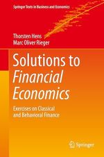 Solutions to Financial Economics  - Marc Oliver Rieger - Thorsten Hens