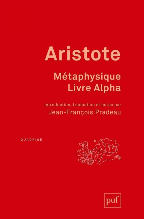 Metaphysique, livre alpha