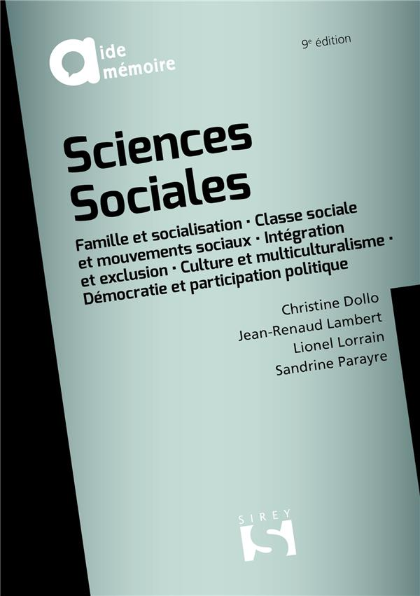 Sciences sociales (9e édition)