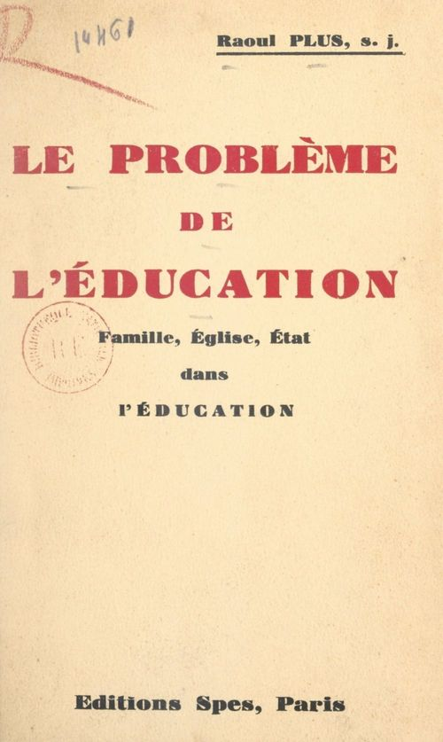 Le problème de l'éducation