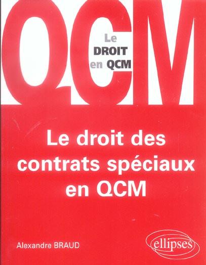 Le Droit Des Contrats Speciaux En Qcm