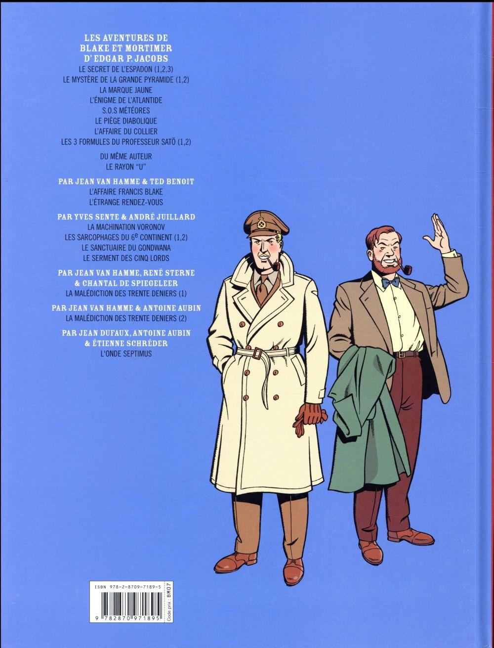 Blake et Mortimer t.22 ; l'onde Septimus