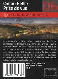 Canon Reflex ; prise de vue