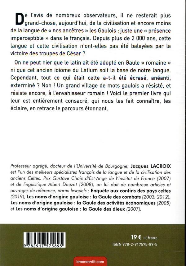 Les irréductibles mots gaulois dans la langue française