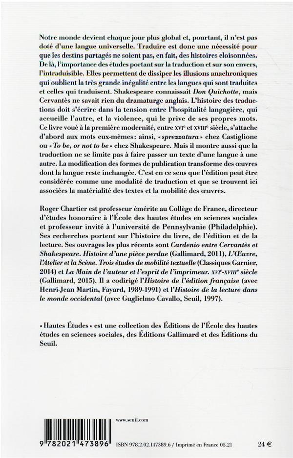 éditer et traduire : mobilité et matérialité des textes (XVIe-XVIIIe siècles)