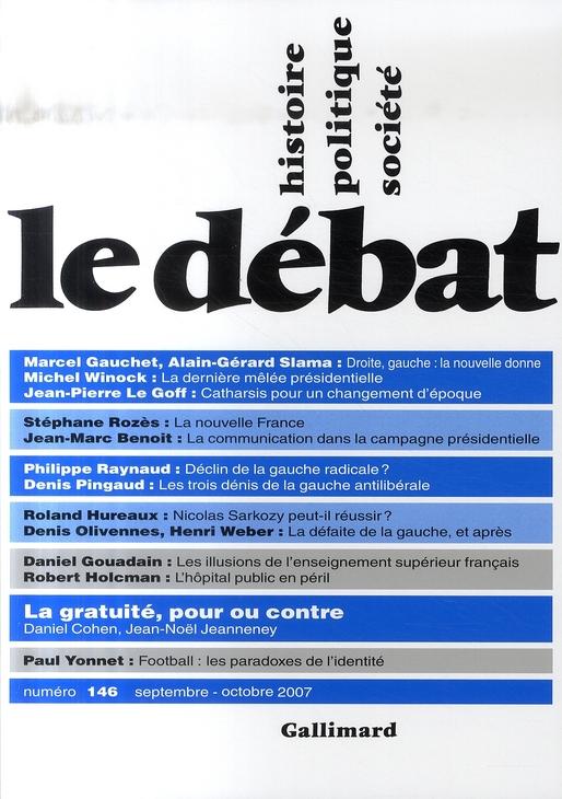 Revue le debat ; septembre-octobre 2007
