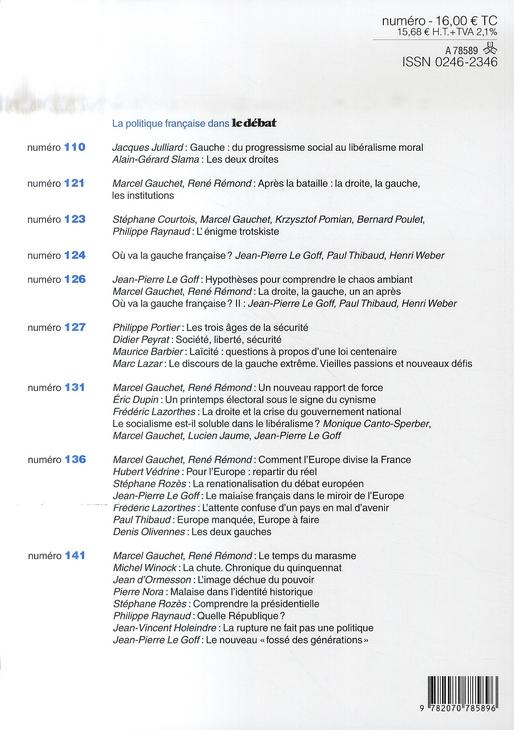 Revue Le Débat n.146 ; septembre-octobre 2007