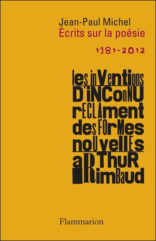 écrits sur la poésie, 1981-2012