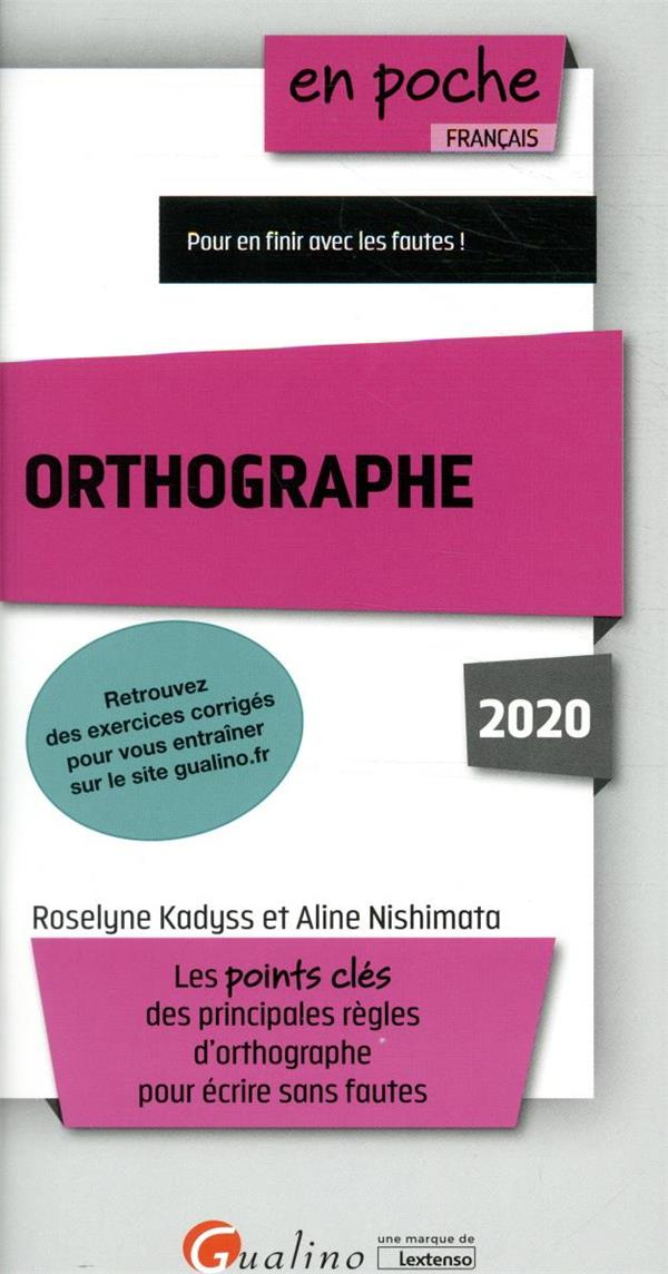 Orthographe (édition 2020)