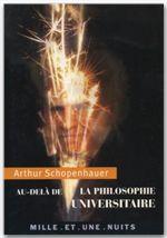 Au-dela de la philosophie universitaire