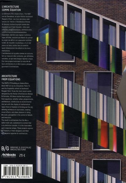 B/g - l'architecture comme equation - coffret de 3 livres comprenant emgp 270 - 1.08 arithmetique ur