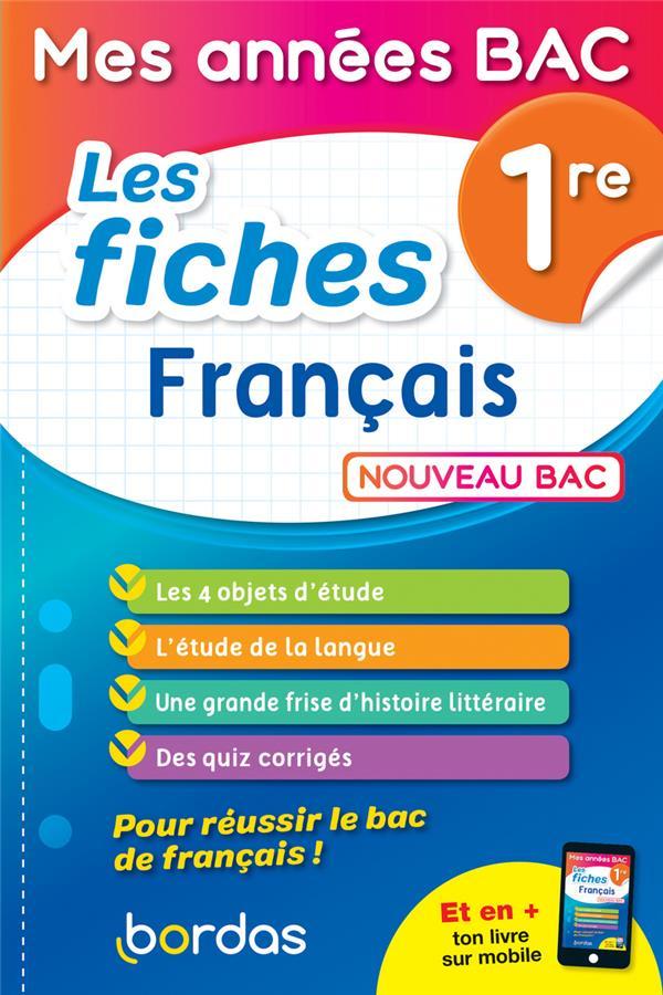 Les fiches de français ; 1re (édition 2019)