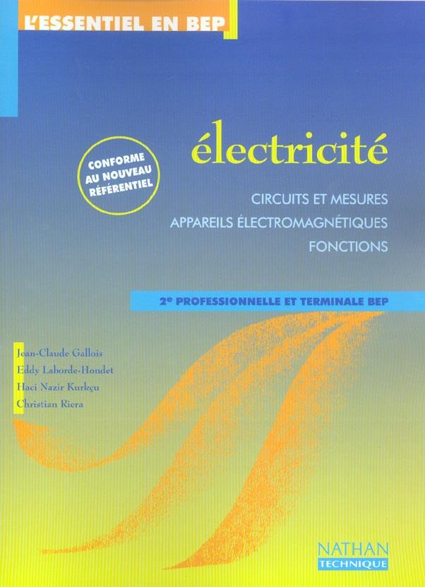Electricite ; 2nde Professionnelle Et Terminale Bep ; Pochette De L'Eleve (Edition 2003)