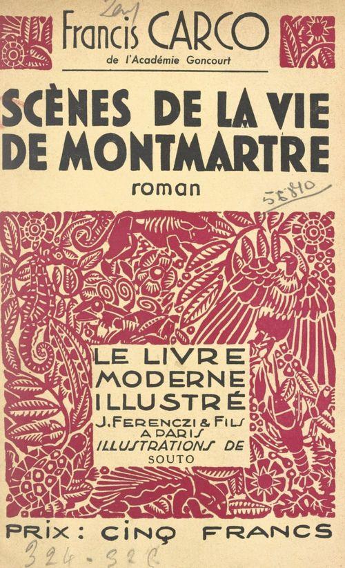 Scènes de la vie de Montmartre