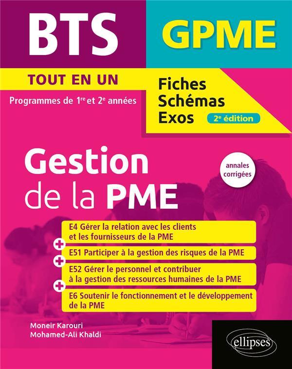 BTS fiches, schémas et exos ; BTS gestion de la PME ; programmes de 1re et 2e année (édition 2020)