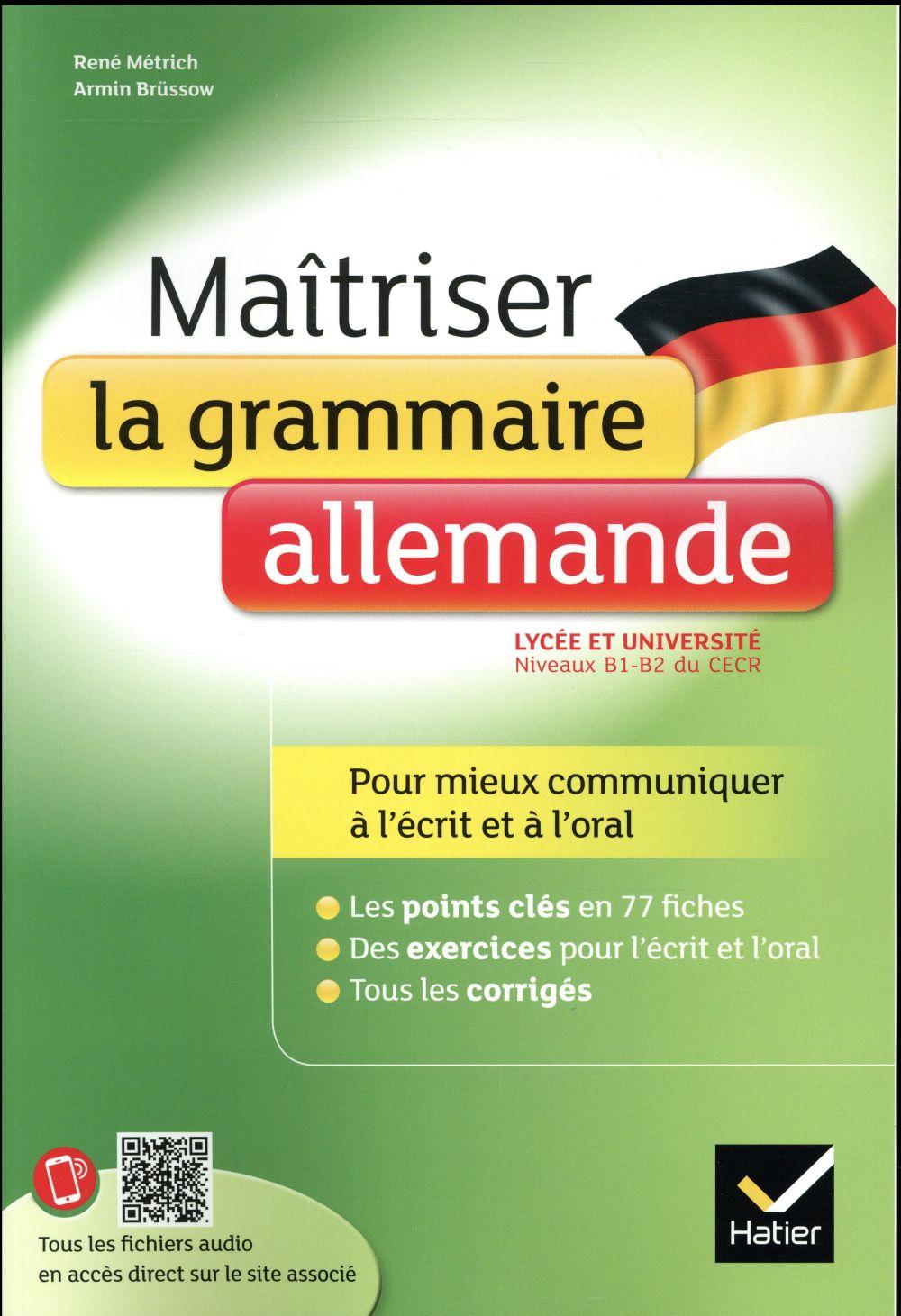Maîtriser la grammaire allemande