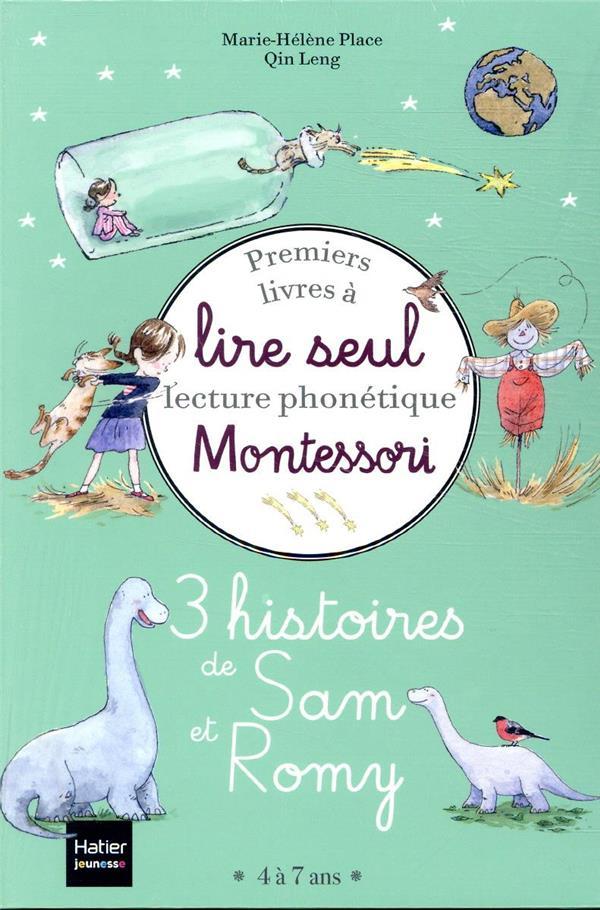 Premiers livres à lire seul Montessori, lecture phonétique ; 3 histoires de Sam et Romy niveau 3 - pedagogie montessori