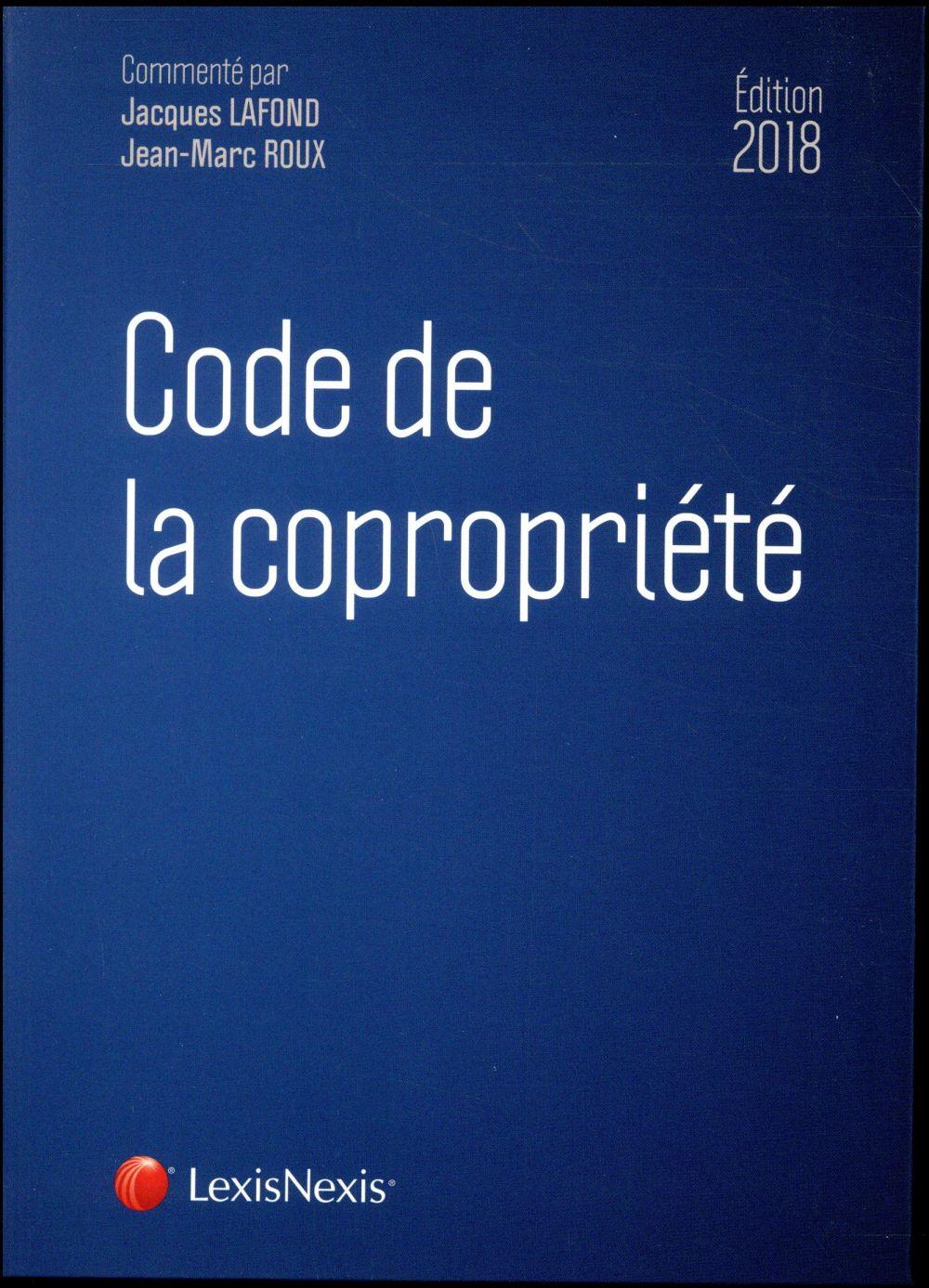 Code de la copropriété (édition 2018)