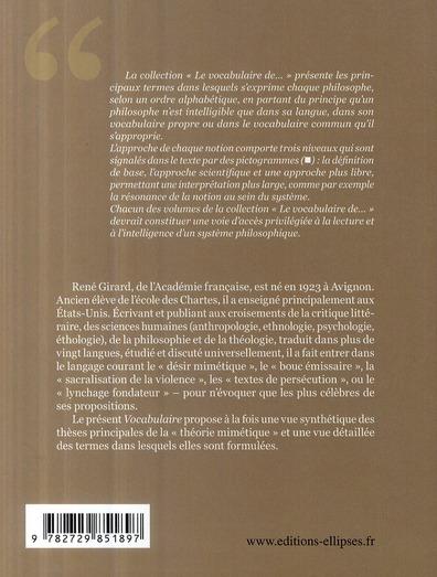 Le vocabulaire de René Girard (2ème édition)
