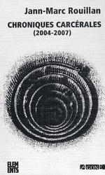 Couverture de Chroniques carcérales (2004-2007)